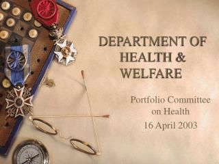 DEPARTMENT OF HEALTH & WELFARE