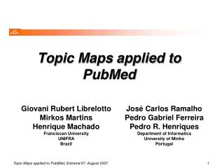Topic Maps applied to PubMed