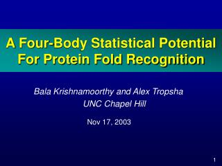 A Four-Body Statistical Potential For Protein Fold Recognition