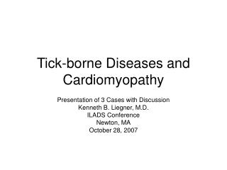 Tick-borne Diseases and Cardiomyopathy