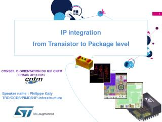 IP integration from Transistor to Package level