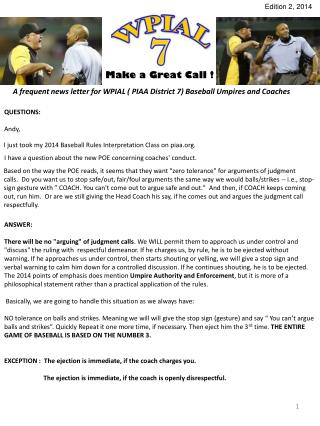 Make a Great Call !