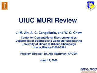 UIUC MURI Review