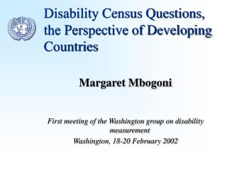 Disability Census Questions
