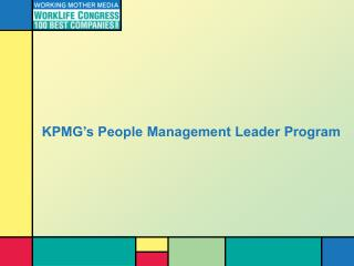 KPMG's People Management Leader Program