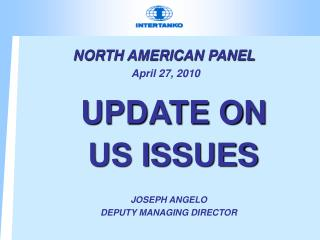 NORTH AMERICAN PANEL April 27, 2010