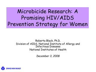 Microbicide Research: A Promising HIV/AIDS Prevention Strategy for Women
