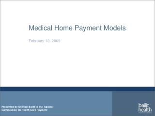 Medical Home Payment Models