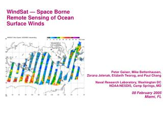 WindSat   Space Borne Remote Sensing of Ocean Surface Winds