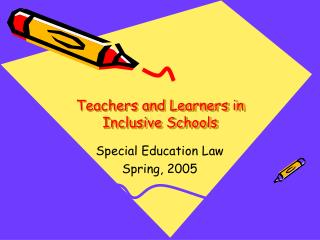 Teachers and Learners in Inclusive Schools