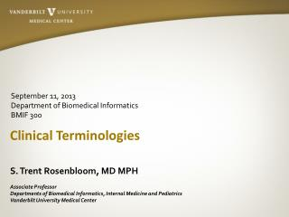 Clinical Terminologies