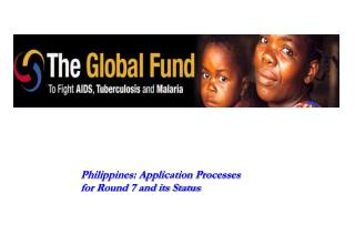 Philippines: Application Processes for Round 7 and its Status