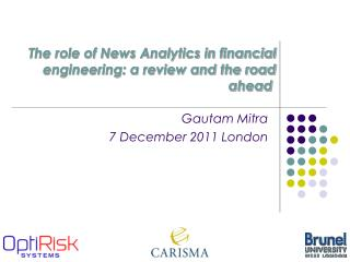 The role of News Analytics in financial engineering: a review and the road ahead