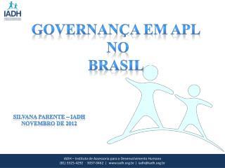 Governança em APL  no  Brasil