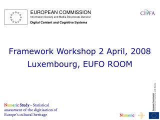 N u m e r i c Study -  Statistical assessment of the digitisation of Europe's cultural heritage