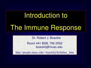 Introduction to The Immune Response