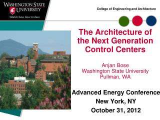 Advanced Energy Conference New York, NY October 31, 2012