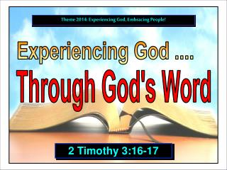 Experiencing God ....