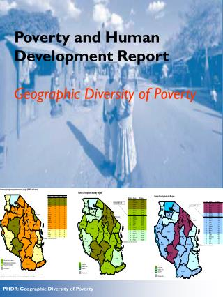 Poverty and Human Development Report Geographic Diversity of Poverty