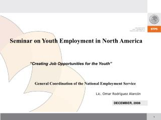 Seminar on Youth Employment in North America