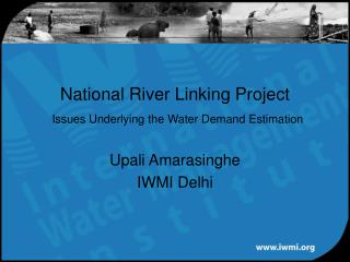 National River Linking Project  Issues Underlying the Water Demand Estimation