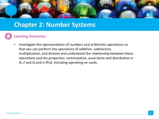 Chapter 2 Sets and Whole-Number Operations and Properties