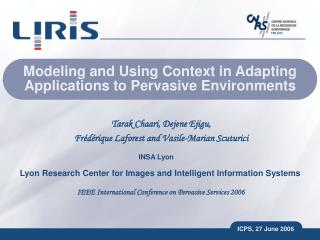 Modeling and Using Context in Adapting Applications to Pervasive Environments