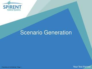 Scenario Generation