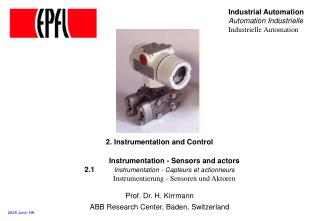 2. Instrumentation and Control