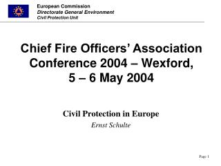 Chief Fire Officers' Association Conference 2004 – Wexford, 5 –  6  May 2004