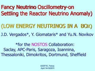 Fancy Neutrino  Oscillometry -on  Settling  the Reactor Neutrino Anomaly)