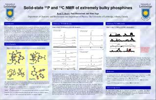 Solid-state  31 P and  13 C NMR of extremely bulky phosphines