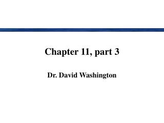 Chapter 11, part 3
