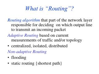 "What is ""Routing""?"
