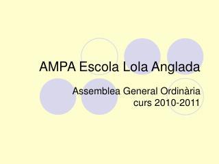 AMPA Escola Lola Anglada
