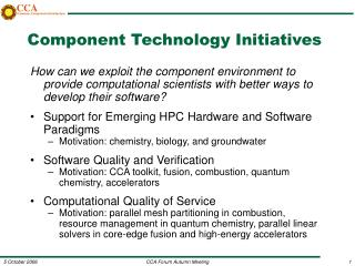 Component Technology Initiatives