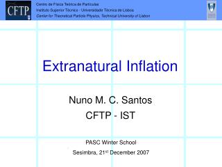 Extranatural Inflation