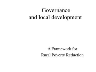 Governance  and local development