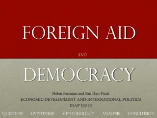 Foreign Aid DEMOCRACY