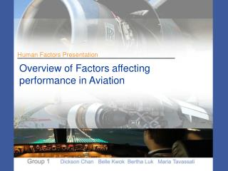 Overview of Factors affecting  performance in Aviation