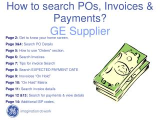 How to search POs, Invoices & Payments?