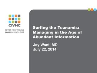 Surfing the Tsunamis: Managing in the Age of Abundant Information