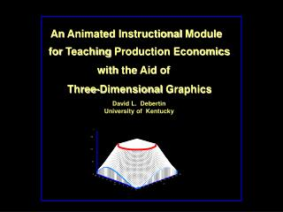 An Animated Instructional Module