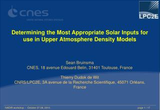 Determining the Most Appropriate Solar Inputs for use in Upper Atmosphere Density Models