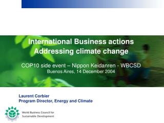 International Business actions Addressing climate change