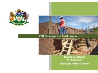 Conditional Grant in respect of Municipal Property Rates