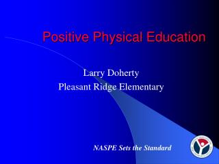 Positive Physical Education