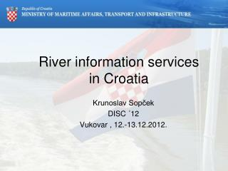 River information services in Croatia