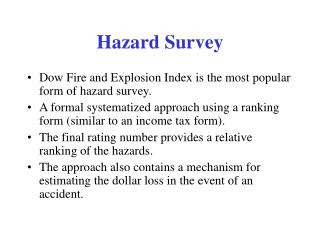Hazard Survey