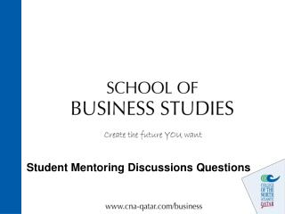 Student Mentoring Discussions Questions